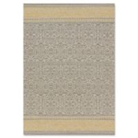 Magnolia Home by Joanna Gaines Emmie Kay 7-Foot 9-Inch x 9-Foot 9-Inch Area Rug in Grey/Maize