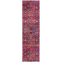 Safavieh Madison Roslin 2-Foot 3-Inch x 8-Foot Runner in Fuchsia/Multi