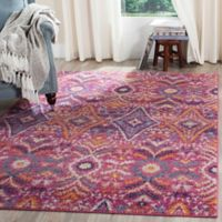Safavieh Madison Roslin 5-Foot 1-Inch x 7-Foot 6-Inch Area Rug in Fuchsia/Multi