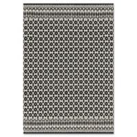 Magnolia Home by Joanna Gaines Emmie Kay 3-Foot 6-Inch x 5-Foot 6-Inch Area Rug in Ivory/Black