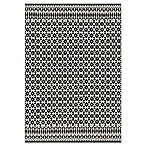 Magnolia Home by Joanna Gaines Emmie Kay 7-Foot 9-Inch x 9-Foot 9-Inch Area Rug in Ivory/Black