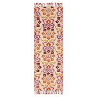 Magnolia Home by Joanna Gaines Brushstroke 2-Foot 6-Inch x 7-Foot 6-Inch Area Rug in Ivory/Berry