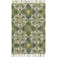 Magnolia Home by Joanna Gaines Brushstroke Emerald 2-Foot 3-Inch x 3-Foot 9-Inch Accent Rug