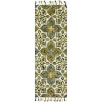 Magnolia Home by Joanna Gaines Brushstroke Emerald 2-Foot 6-Inch x 7-Foot 6-Inch Runner