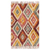 Magnolia Home by Joanna Gaines Brushstroke Sunset 3-Foot 6-Inch x 5-Foot 6-Inch Area Rug in Silver