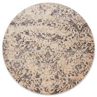 Magnolia Home By Joanna Gaines Kivi 9-Foot 6-Inch Round Area Rug in Ivory/Ink