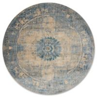 Magnolia Home By Joanna Gaines Kivi 9-Foot 6-inch Round Area Rug in Sand/Sky