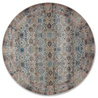 Magnolia Home By Joanna Gaines Kivi Fog 5-Foot 3-Inch Round Area Rug in Fog/Multi