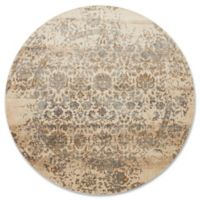 Magnolia Home By Joanna Gaines Kivi 9-Foot 6-Inch Round Area Rug in Ivory/Quarry