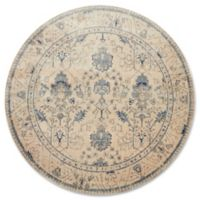 Magnolia Home By Joanna Gaines Kivi 9-Foot 6-Inch Round Area Rug in Ivory/Slate