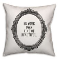 Designs Direct Little Lady Collection Your Own Kind of Beautiful Throw Pillow in Black/White
