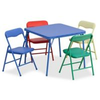Flash Furniture Kids Colorful 5-Piece Folding Table and Chair Set