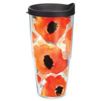 Tervis® Watercolor Poppy 24 oz. Wrap Tumbler