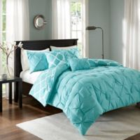 Madison Park Essentials Kasey 5-Piece Reversible Full/Queen Comforter Set in Aqua