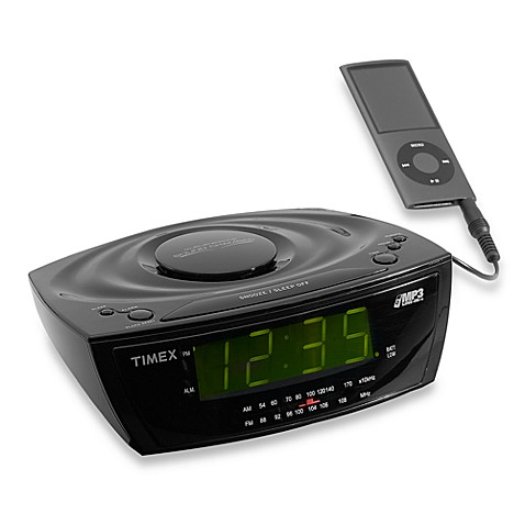 Timex 174 Large Display Alarm Clock Radio With Mp3 Line In