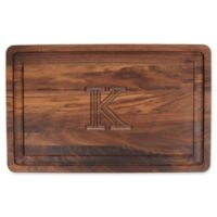 "The Cutting Board Company 24-Inch x 15-Inch Wood Monogram Letter ""K"" Carving Board in Walnut"