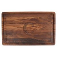 "The Cutting Board Company 24-Inch x 15-Inch Wood Monogram Letter ""C"" Carving Board in Walnut"