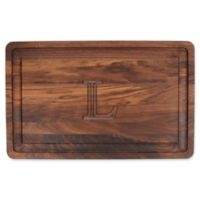"The Cutting Board Company 24-Inch x 15-Inch Wood Monogram Letter ""L"" Carving Board in Walnut"