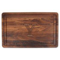 "The Cutting Board Company 24-Inch x 15-Inch Wood Monogram Letter ""Y"" Carving Board in Walnut"