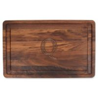 """The Cutting Board Company 24-Inch x 15-Inch Wood Monogram Letter """"Q"""" Carving Board in Walnut"""