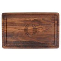 "The Cutting Board Company 24-Inch x 15-Inch Wood Monogram Letter ""O"" Carving Board in Walnut"