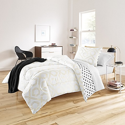 image of Beth 6-8 Piece Comforter Set in Gold