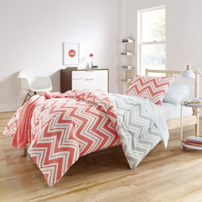 Cait 7 Piece Twin/ Twin XL Comforter Set In Pink/Grey