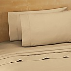 220-Thread-Count Cotton Percale Queen Sheet Set in Taupe