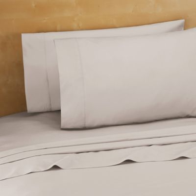 220 Thread Count Cotton Percale Twin Sheet Set In Grey