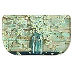 Bacova 18-Inch x 30-Inch Blossoms in a Jar Memory Foam Kitchen Mat in Blue/Ivory