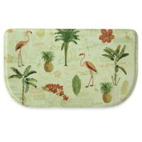 Bacova 30-Inch x 18-Inch Floridian Toss Memory Foam Kitchen Mat in Beige/Green