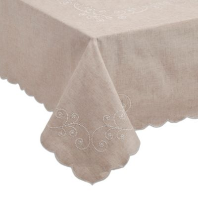 Lenox® French Perle 70 Inch Square Tablecloth In Linen