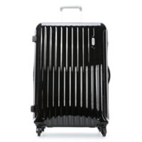 Bric's Riccione 27-Inch Upright Hardside Spinner Checked Luggage in Black