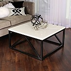 Kate And Laurel Kaya Square Coffee Table in White/Black