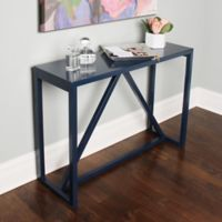 Kate and Laurel Kaya Console Table in Navy
