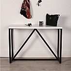 Kate and Laurel Kaya Console Table in White/Black