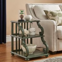 Verona Home Blanche Tiered End Table in Deep Aqua
