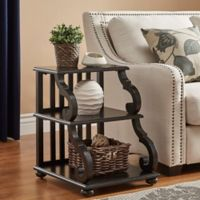 Verona Home Blanche Tiered End Table in Antique Black