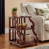 Verona Home Blanche Tiered End Table in Rich Berry