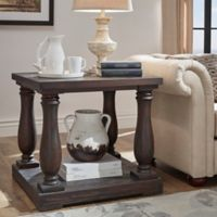 Verona Home Cordelia End Table in Weathered Cocoa