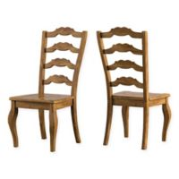 Verona Home Marigold Hill French Ladder Chairs in Oak (Set of 2)