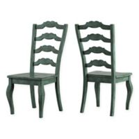 Verona Home Marigold Hill French Ladder Chairs in Deep Aqua (Set of 2)