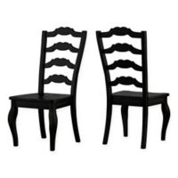Verona Home Marigold Hill French Ladder Chairs in Antique Black (Set of 2)