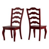 Verona Home Marigold Hill French Ladder Chairs in Rich Berry(Set of 2)
