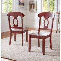 Verona Home Marigold Hill Napoleon Chairs in Rich Berry (Set of 2)