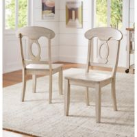 Verona Home Marigold Hill Napoleon Chairs in Antique White (Set of 2)