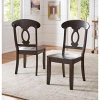 Verona Home Marigold Hill Napoleon Chairs in Antique Black (Set of 2)