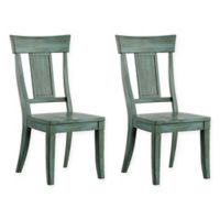 Verona Home Marigold Hill Paneled Back Chairs in Deep Aqua (Set of 2)