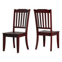 Verona Home Marigold Hill Slat Back Chairs in Rich Berry (Set of 2)