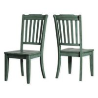 Verona Home Marigold Hill Slat Back Chairs in Deep Aqua (Set of 2)